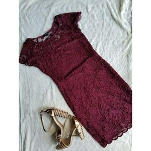 Ambience short sleeve lace dress.